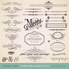 Calligraphic Design Elements and Page Decoration - GraphicRiver Item for Sale - http://graphicriver.net/item/calligraphic-design-elements-and-page-decoration/589639?ref=ordogz