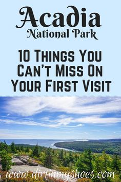 Acadia National Park is one of the most beautiful places in Maine, and should be on everybody's bucket lists!  Planning the itinerary can be a challenge though, that is why I'm sharing this list of 10 things to do in Acadia.  Whether you are hiking with kids, camping with families, or are on a solo photography adventure this list will help you get on the trail, find your lighthouse, and see the best of Acadia!  My favorite one is number 6! #acadianationalpark #travel