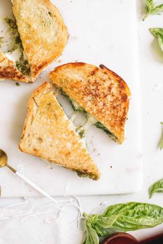 New Garden Pesto Grilled Cheese Sandwich to celebrate grilledcheeseday tomorrow with Roth New Garden Pesto Grilled Cheese Sandwich to celebrate grilledcheeseday tomorrow with Roth samantha romano Food and drink New nbsp hellip Cheese classic Grilled Cheese Recipes Easy, Pesto Grilled Cheeses, Vegetarian Recipes, Cooking Recipes, Healthy Recipes, Ham Recipes, Fudge Recipes, Crockpot Recipes, Icing Recipes