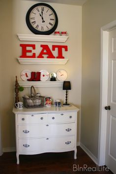 Dresser/ love this for my coffee bar.