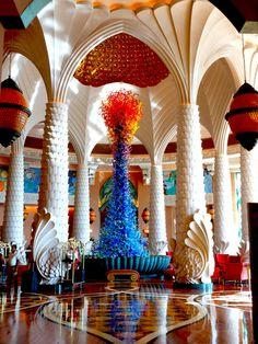 Monumental work of art by Dale Chihuly - Atlantis The Palm, Dubai, United Arab Emirates