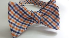 Orange and Blue Checked Phi Tie! I love this One!