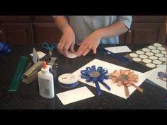 How to Make a Rosette Award Ribbon Medallion - YouTube