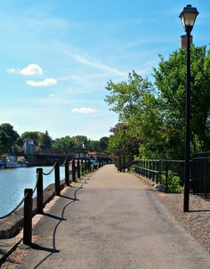 Erie Canal bike path in Fairport, NY