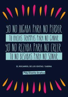 #Canciones #Sabina PDg Diseño Grafico