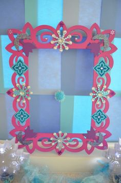 Frozen Party Photo Booth Frame Prop by MyMommaToldMe.com