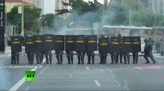 A 3 días del Mundial: Policía de São Paulo dispersa a manifestantes con ...
