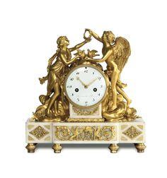 An important Louis XVI clock, Sauvajot a Paris, 1790 ca.