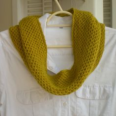 Honey Cowl by Antonia Shankland ¬ malabrigo Lace in Frank Ochre