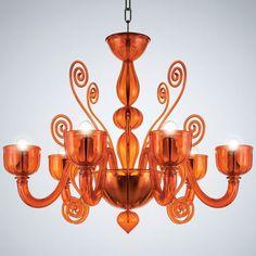 La Murrina - Chandelier Glamour S/6 (Orange)