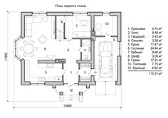 планировка двухэтажного дома в европейском стиле 1 этаж House Plans, Floor Plans, How To Plan, Single Family, Beautiful Homes, Home Plans, House Floor Plans, Blueprints For Homes, House Design