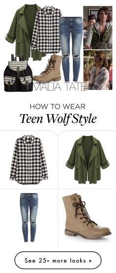 """Malia Tate"" by tynestar on Polyvore featuring H&M, VILA, Dirty Laundry and Rampage"