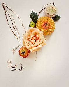 Kari Herer print works. Kari Herer is actually a photographer but she has these amazing prints where she mixes illustration with flowers, the results are truly amazing.