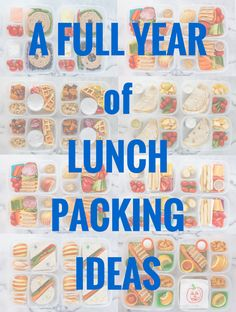 A Full Year of Lunch Packing Ideas!!!