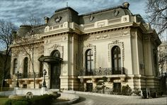 """The Assan House (today """"The Scientists's House""""), Bucharest, Romania Neoclassical Architecture, Classic Architecture, Capital Of Romania, Le Riad, Bucharest Romania, Beautiful Park, Modern Buildings, Old Houses, Asana"""