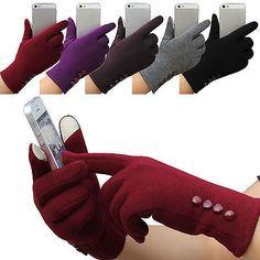 Hi New Women's Winter Warm Gloves Touch Screen Sport Ski Gloves Outdoor Mittens