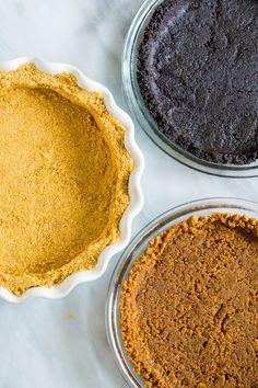 How to Make a Crumb Crust from (oreo crust pie) Pie Crust Recipes, Tart Recipes, Baking Recipes, Pie Crusts, Baking Pies, Bread Baking, Cookie Recipes, Cheesecake Crust, Oreo Crust