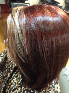 Hair Color Chart Trieste Red