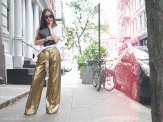 Jeremy Laing pants // Zara linen tee // Tibi heels // Mansur Gavriel large wallet // Ray Ban sunglasses