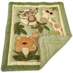 http://www.pinterest.com/fieltrofelt/animales/  13pcs safari animal baby bedding set