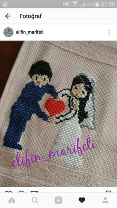 Cross Stitch Designs, Kids Rugs, Embroidery, Wedding, Grooms, Cross Stitch Embroidery, Crochet Dress Patterns, Embroidery Ideas, Baby Drawing