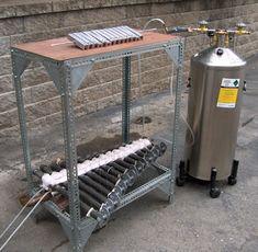 Fire Organ, thermo acoustic oscillatior musical organ, unique strange experimental musical instrument
