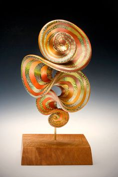 Tropic Esprit Brooch on Maple Base8h x 3.5w x 3d inches$900©2010 Elise Winters