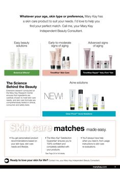 You aren't able to replace your skin, so it is best that you care for it the best you can on a daily basis.  What better way to do that than with Mary Kay skin care regimen lines that are designed specifically for your skin type :) #SkinCareProductsThatWork