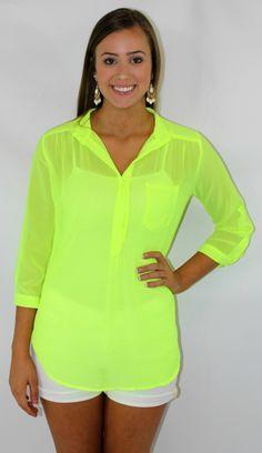 Kiki La'Rue - Neon Ready Top - Highlighter Yellow, $36.00 (http://www.kikilarue.com/neon-ready-top-highlighter-yellow/)