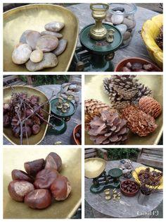 """Garden Maths... weighing natural materials... from Rachel ("""",)"""
