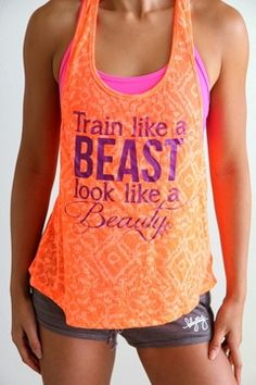 Train Like a BEAST Look Like a BEAUTY in Neon Tangerine