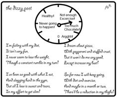 The Dizzy Poet: A Poem about Dieting