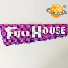 Full House - TV show logo perler beads by pixel_planet_