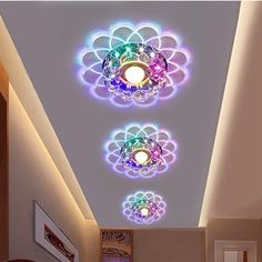 Modern Crystal LED Ceiling Lighting Living Room Home Chandeliers Fixture Aisle Hallway Lamp Chandelier Multicolor - Lampen