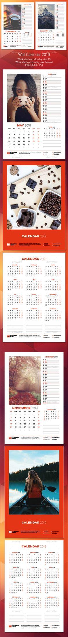Wall Calendar 2019 Pinterest Walls
