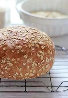 no-knead honey whole wheat bread | The Clever Carrot