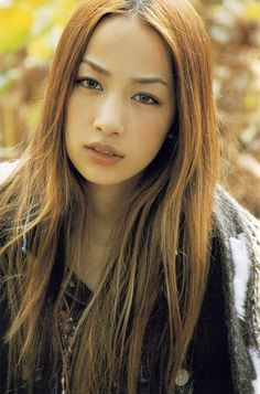 Mika Nakashima - middle parting , long hair. i love this simple hair style so much this is my hair goal <3