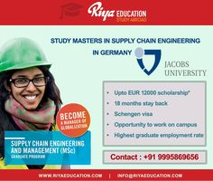 Study #Masters in Supply Chain #Engineering in #GERMANY!!! http://riyaeducation.com/contact/ #RiyaEducation #abroadeducation #studyingermany