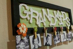 Christmas Gift for Grandmas?? - Emmy Mom--One Day at a Time: DIY: Grandkids Picture Sign #home #decor