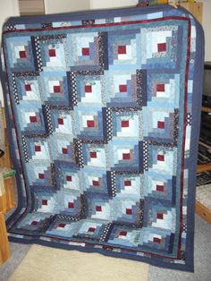 Log Cabin, one of my first quilts