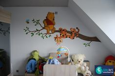 wandschildering tijgertje en pooh op tak on Lizart  http://lizart.be/wp-content/uploads/muurschilderingen-winnie-de-pooh-figuurtjes/wandschildering-tijgertje-en-pooh-op-tak.JPG