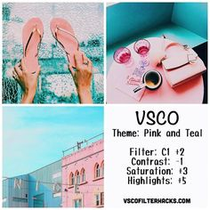 Pink and Teal Instagram Feed Using VSCO Filter C1