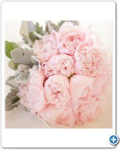 Bruidsboeket roze pioenrozen