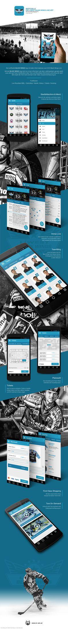 Die inoffizielle BLACK WINGS App mit allen Informationen zum EHC Black Wings Linz.