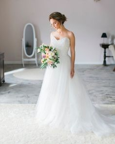 Every bride who comes into one of our bridal salons will receive a one-on-one personalized experience with a stylist who has a deep passion for helping their client find the perfect wedding gown and building a lasting relationship. Wedding Dressses, Wedding Gowns, Strapless Gown, Bridal Salon, Happily Ever After, Perfect Wedding, Stylists, Private Label, Bride