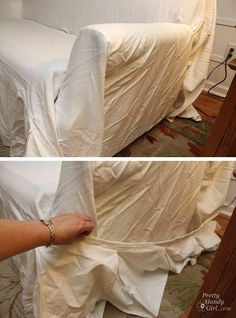How to install/put-on a slipcover