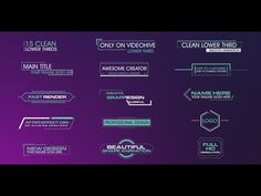 Clean Lower Thirds | After Effects template