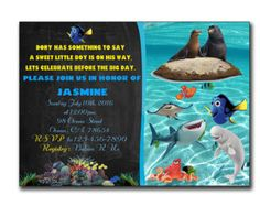 Finding Nemo Baby Shower Invitation Finding By PrintablesToYou