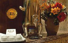 Complimentary coffee.