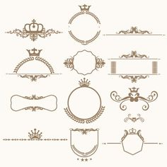 Badge Design, Logo Design, Calligraphy Borders, Bridal Boutique Interior, Flourish Border, Art Deco Invitations, Vintage Photo Album, Oval Picture Frames, Photo Frame Design